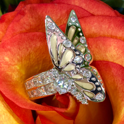 Pierce Custom Jewelers Custom Jewelry Design and Creation Butterfly Ring