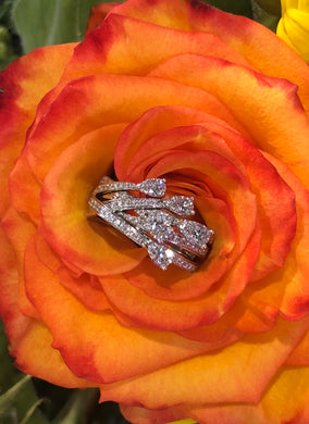 Hearts On Fire Aerial Cross Over Ring .95 total carats in 18K White Gold