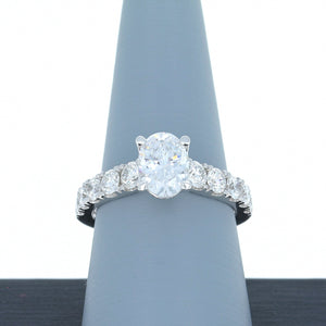 A Jaffe Engagement Ring Semi Mount in 18K White Gold ME2281/255