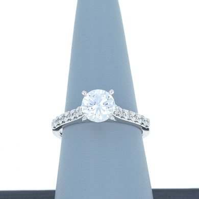 A Jaffe Engagement Ring Semi Mount in 18 White Gold MES1353/30