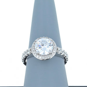 A Jaffe Diamond Engagement Ring in White Gold MES168/62
