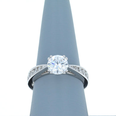 A Jaffe Diamond Engagement Ring in White Gold MES233/52