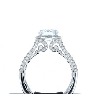 A Jaffe Engagement Ring Semi Mount in 14K White Gold MES762Q/204