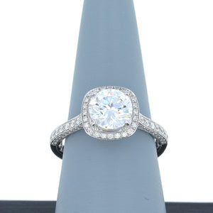 A Jaffe Diamond Engagement Ring in White Gold MES762Q/204