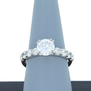 A Jaffe Engagement Ring Semi Mount in Platinum MES078/80