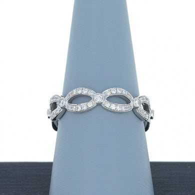 A Jaffe Diamond Eternity Band in White Gold WR084/46