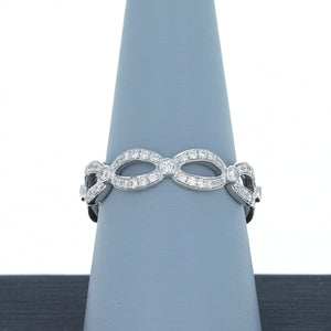 A Jaffe Diamond Eternity Band in 18K White Gold WR084/46