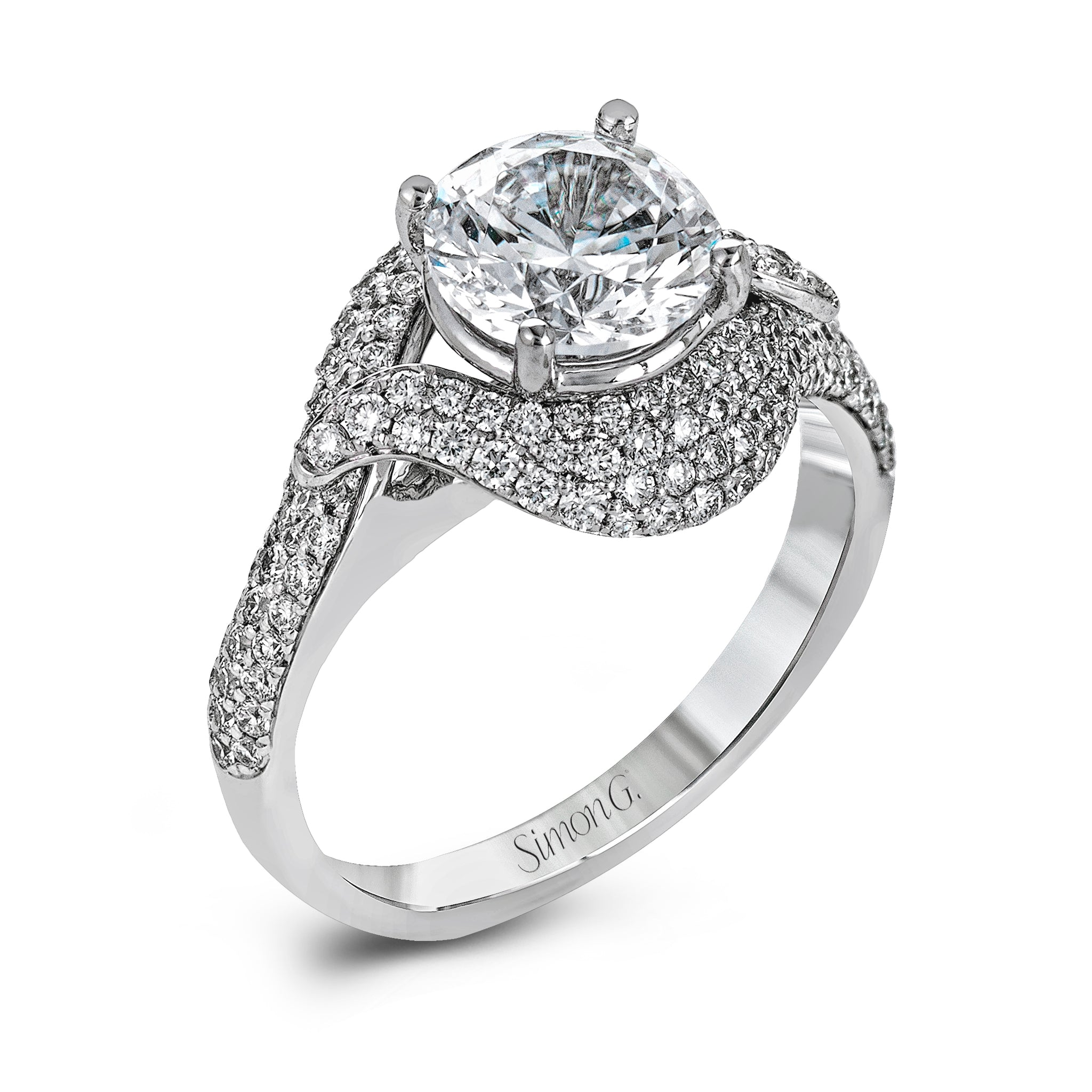 engagement twist romance g collection rings ring classic platinum product halo simon