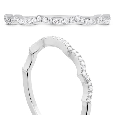 Hearts On Fire Destiny Lace Diamond Band .10 total carats in 18K White Gold