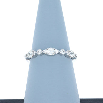 Hearts On Fire Bezel Regal Diamond Band .47 total carats in 18K White Gold
