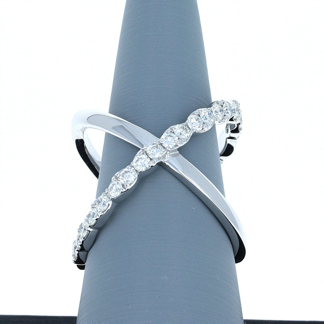 Hearts On Fire Lorelei Criss Cross Ring .68 total carats in 18K White Gold