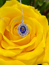 Simon G Blue Sapphire and Diamond Pendant in 18K White Gold LP4466