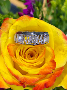 Lance Pierce Bamboo Ring in 14K White Gold
