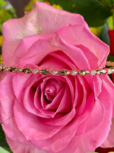 Diamond and 14K Rose Gold Stacking Bracelet