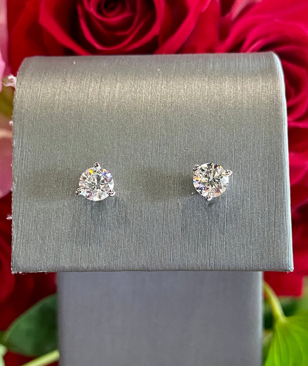 Diamond Stud Earrings 0.75 total carats in 14K White Gold