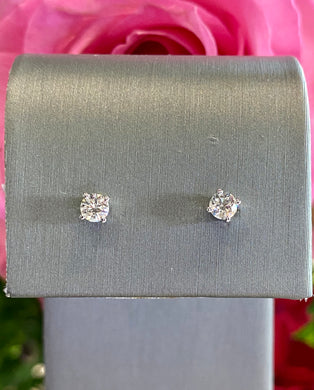 Diamond Stud Earrings 0.25 total carats in 14K White Gold