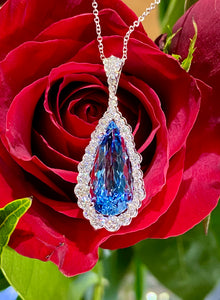 Simon G Aquamarine Pendant in 18K White Gold MP2373