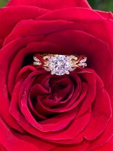 Simon G Engagement Ring Semi Mount in 18K Yellow and White Gold MR2514