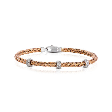 Simon G LB20930R Diamond Stacking Bracelet in Rose Gold