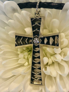 Lance Pierce Higher Power Cross in 14K White and 18K Yellow