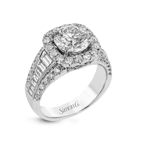 Simon G LR1164 Diamond Engagement Ring in White Gold