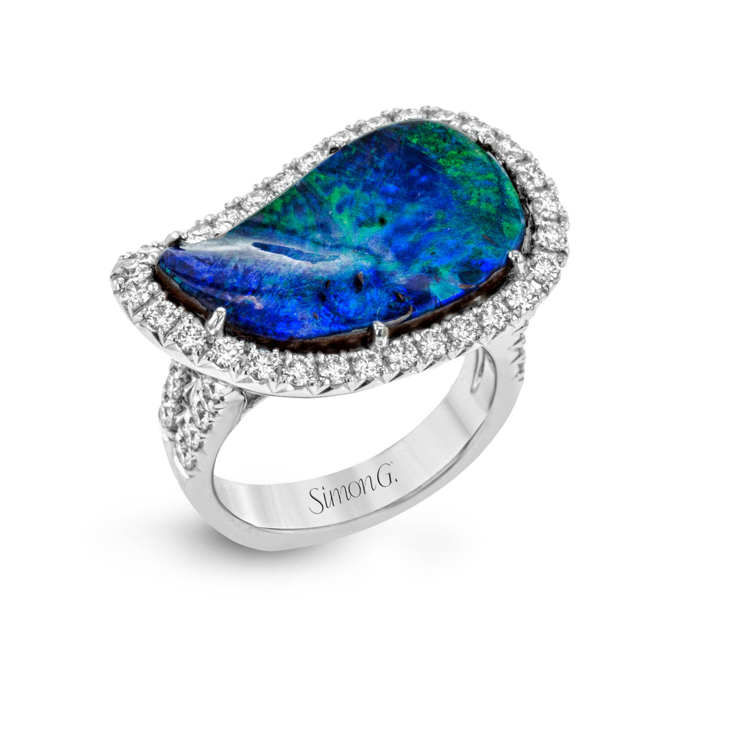 Simon G 18K Opal and Diamond Fashion Ring LR2119