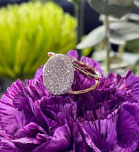 Simon G Contemporary Pave Diamond Ring in 18K Rose Gold MR2385-R