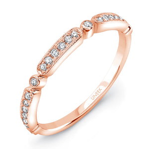 "Uneek ""Melrose"" Stackable Diamond Band in 14K Rose Gold"