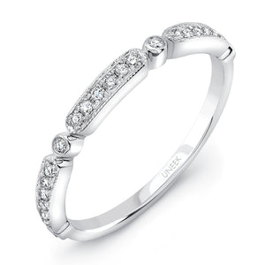 "Uneek ""Melrose"" Stackable Diamond Band in 14K White Gold"
