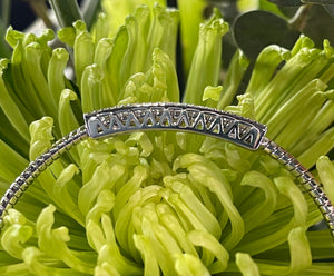 Simon G Diamond Spring Bangle Bracelet in 18K White Gold MB1905