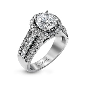 Simon G MR1502 Diamond Engagement Ring in White Gold