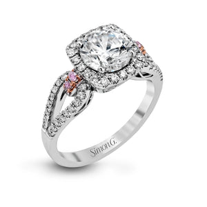 Simon G MR1828 Diamond Engagement Run in White Gold