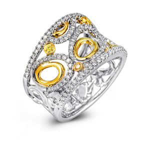 Simon G 18K Diamond Two-Toned Fashion Ring MR2146