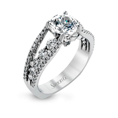 Simon G MR2248 Diamond Engagement Ring in White Gold