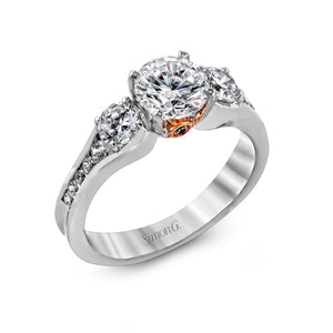 Simon G MR2287 Diamond Engagement Ring in White Gold