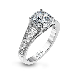 Simon G MR2358 Diamond Engagement Ring in White Gold