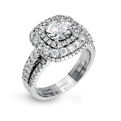 Simon G MR2622 Diamond Engagement Ring in White Gold