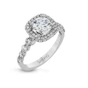 Simon G MR2743 Diamond Engagement Ring in White Gold