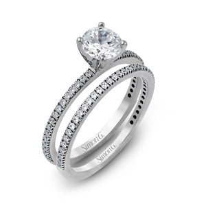 Simon G PR108 Diamond Engagement Ring and Band in Platinum