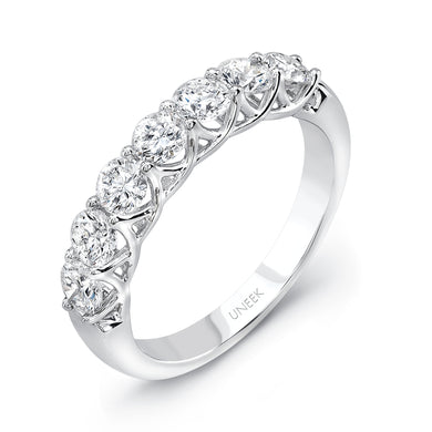 Uneek Round Diamond Interlaced Band in 14K White Gold