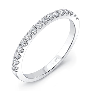 Uneek Round Diamond Band .25 carats in 14K White Gold