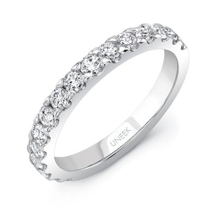 Uneek Round Diamond Band .75 carats in 14K White Gold