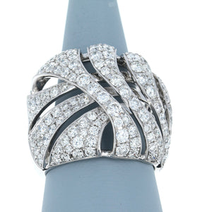 Diamond Wave Band in 18K White Gold