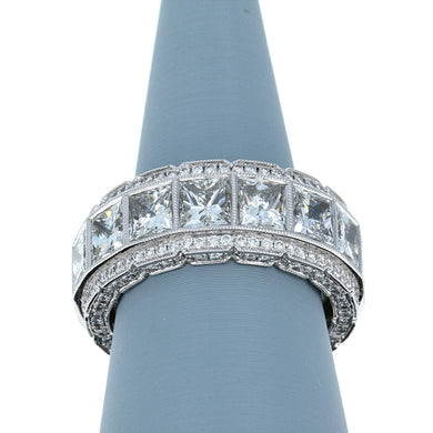 Diamond Encrusted Eternity Band in 18K White Gold