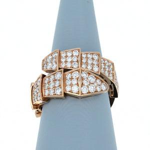 Diamond Ring with Flexible Links in 18K Rose Gold
