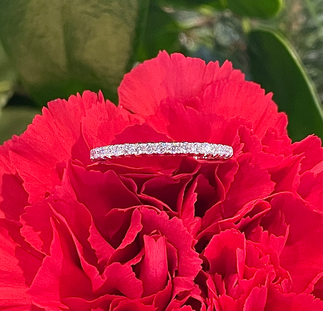 Simon G Diamond Band in 18K White Gold LP2345