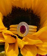 Simon G Ruby and Diamond Wrap Ring in 18K Rose and White Gold LR1160