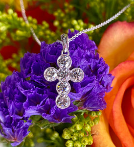 Simon G Diamond Cross Pendant in 18K White Gold NP221
