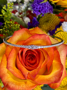 Simon G Diamond Spring Bangle Bracelet in 18K White Gold LB2310