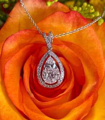 Simon G diamond pear mosaic pendant LP4784